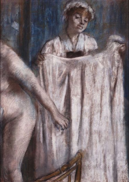 Degas, Edgar: Toilette after the Bath. Fine Art Print/Poster. Sizes: A4/A3/A2/A1 (003773)